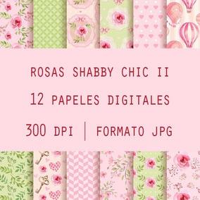 Fondos Papeles Digitales Decoupage Scrap Rosas Shabby Chic 2