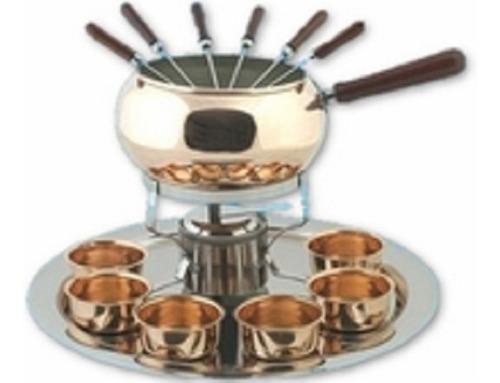 fondue cobre pinches mechero bandeja ac. cazuelas cobre 2,4l