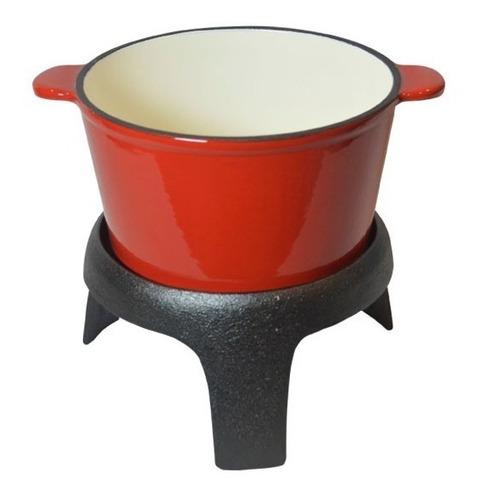 fondue fundicion de hierro enlozado para 6 personas fondiu