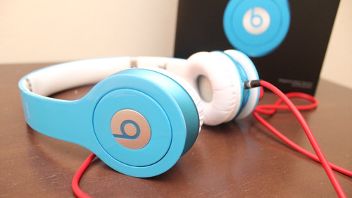 fone beats dr dre solo hd azul novo original  iphone ipod