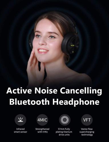 fone bluedio t5s bluetooth cancelamento de ruído com sensor