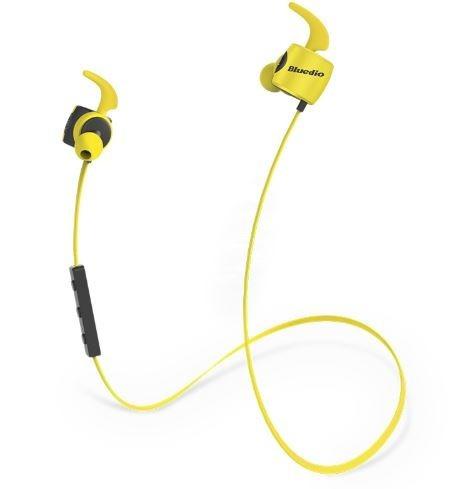 fone bluedio® te  sport bluetooth 4.1 - amarelho