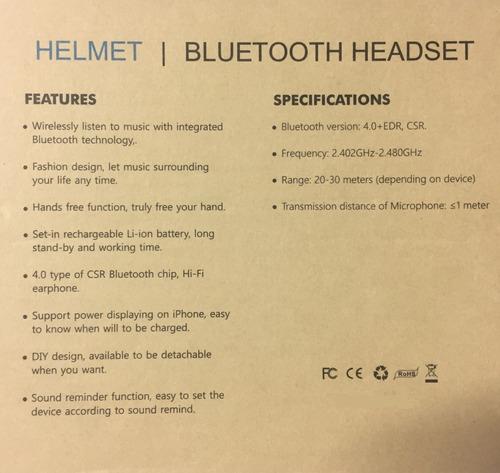 fone bluetooth para capacete (sem fio)