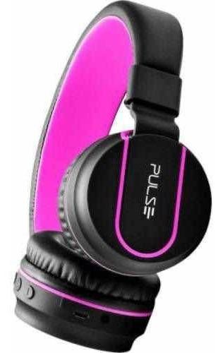 fone bluetooth pulse preto/rosa ph216 até 5h de música