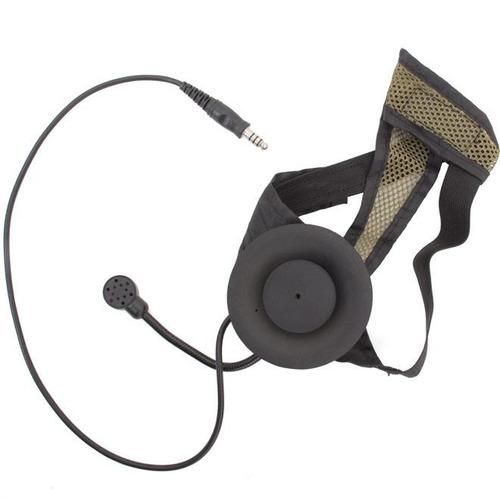 fone com microfone para rádio comunicador z-tactical