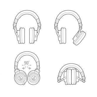fone de ouvido - ath-m50x branco- audio tech