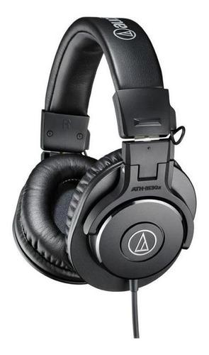fone de ouvido audio-technica ath-m30x - preto
