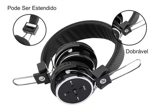 fone de ouvido bluetooth fm b05 (sem fio) headfone