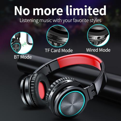 fone de ouvido bluetooth microfone sem fio dobrável headset