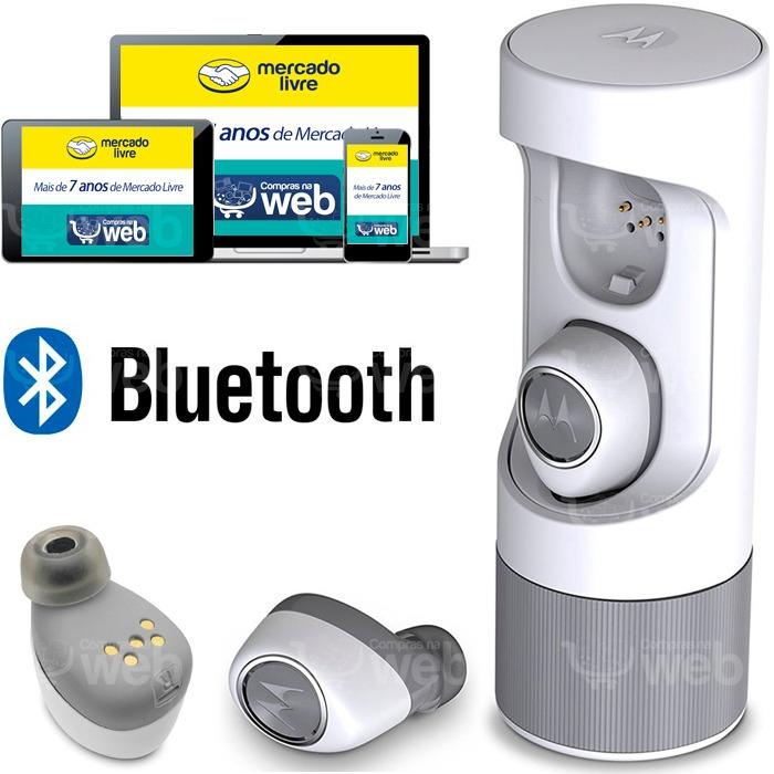 32c937f12 Fone De Ouvido Bluetooth Motorola Sem Fio Verve Ones Earbuds - R  298