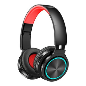 Fone De Ouvido Bluetooth Sem Fio Dobrável Com Led Cartão Tf