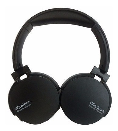 fone de ouvido bluetooth super bass radio fm mp3 luxo couro