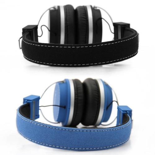 fone de ouvido bomber quake hb02 com ajuste de cabeça azul