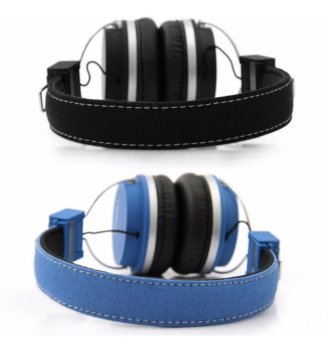 fone de ouvido bomber quake headphone 105 db azul e blak