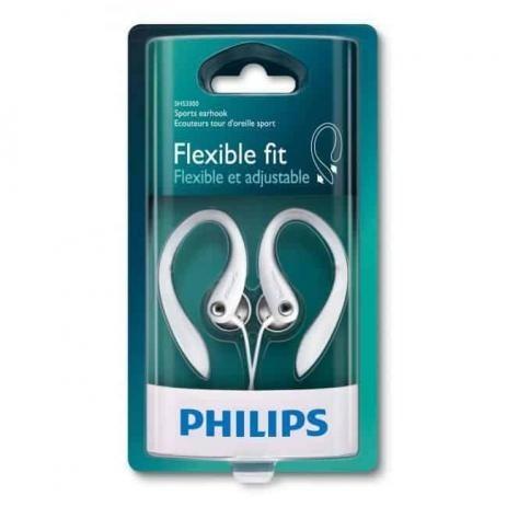 fone de ouvido branco philips esportivo shs3300wt gancho