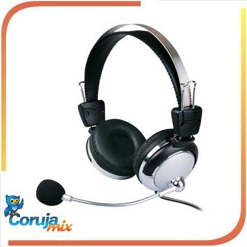 fone de ouvido c microfone - 301mv - 105db - para lan house