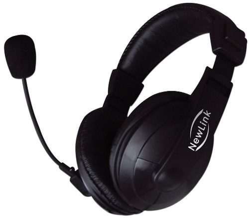 fone de ouvido c/ microfone hs-201 new link com garantia
