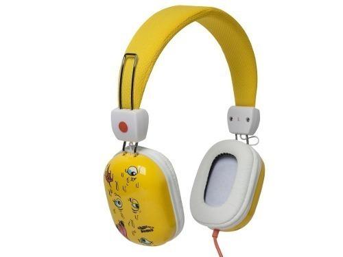 fone de ouvido chilli beans supra auricular amarelo e branco