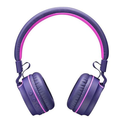fone de ouvido com bluetooth rosa e roxo ph217 - pulse