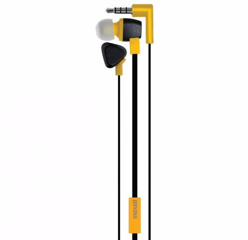 fone de ouvido com mic e cabo flat triangle maxell