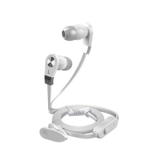 fone de ouvido de alta qualidade com microfone branco