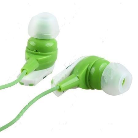 fone de ouvido  de cor verde barato promoção