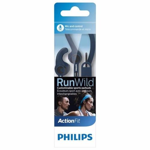 fone de ouvido esportivo com microfone philips shq1405 azul