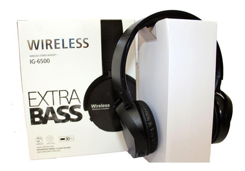 fone de ouvido estereo bluetooth sem fio extra bass wireless
