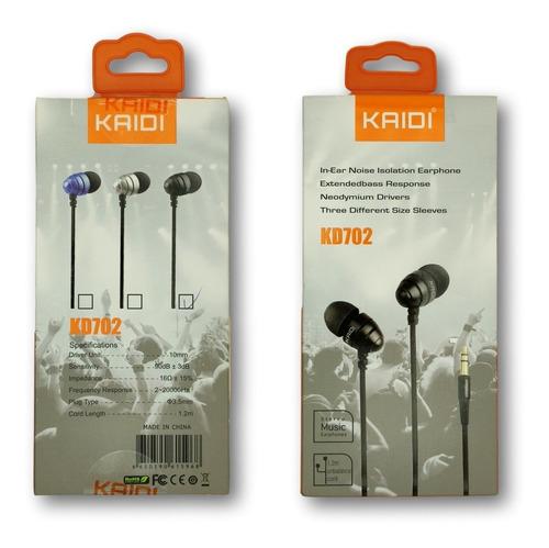 fone de ouvido estéreo com microfone kaidi kd-702 cabo p2