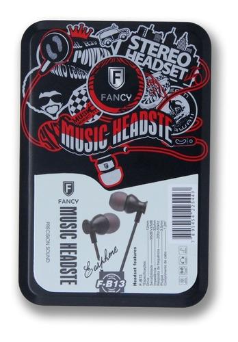 fone de ouvido fancy fb13 microfone e volume no cabo