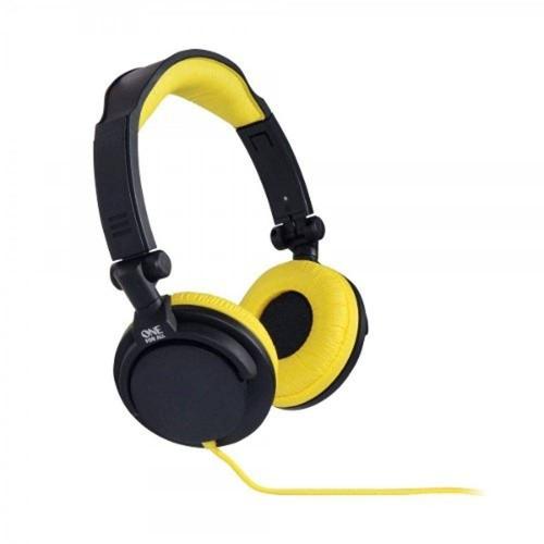 fone de ouvido headphone estéreo full bass dj amarelo sv561