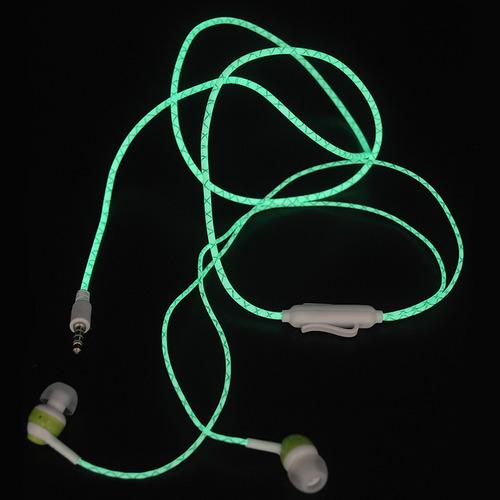 fone de ouvido headphone fosforescen brilha no escuro rosa