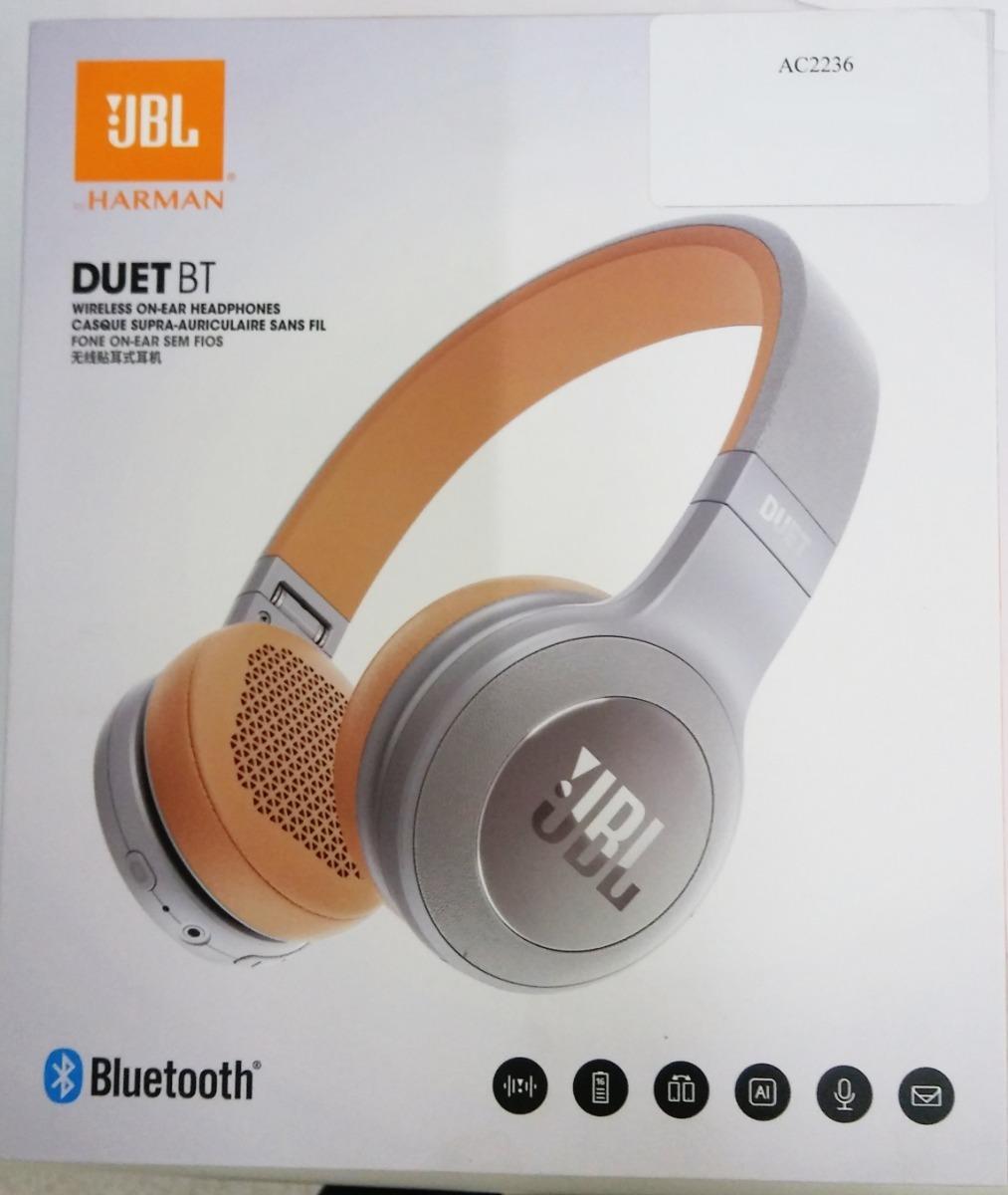 ff6d43e13 fone de ouvido headphone jbl duet bt- bluetooth - prata. Carregando zoom.