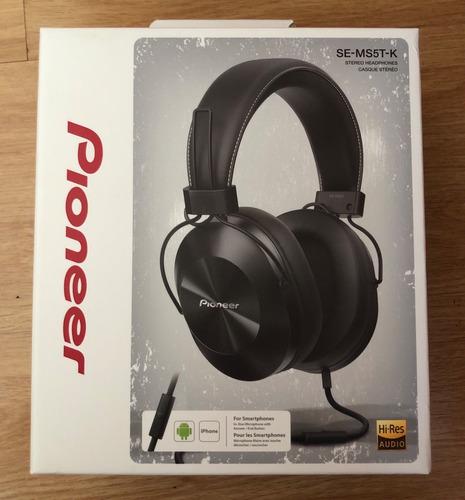 fone de ouvido headphone pioneer preto p2 se-ms5t-k / novo!