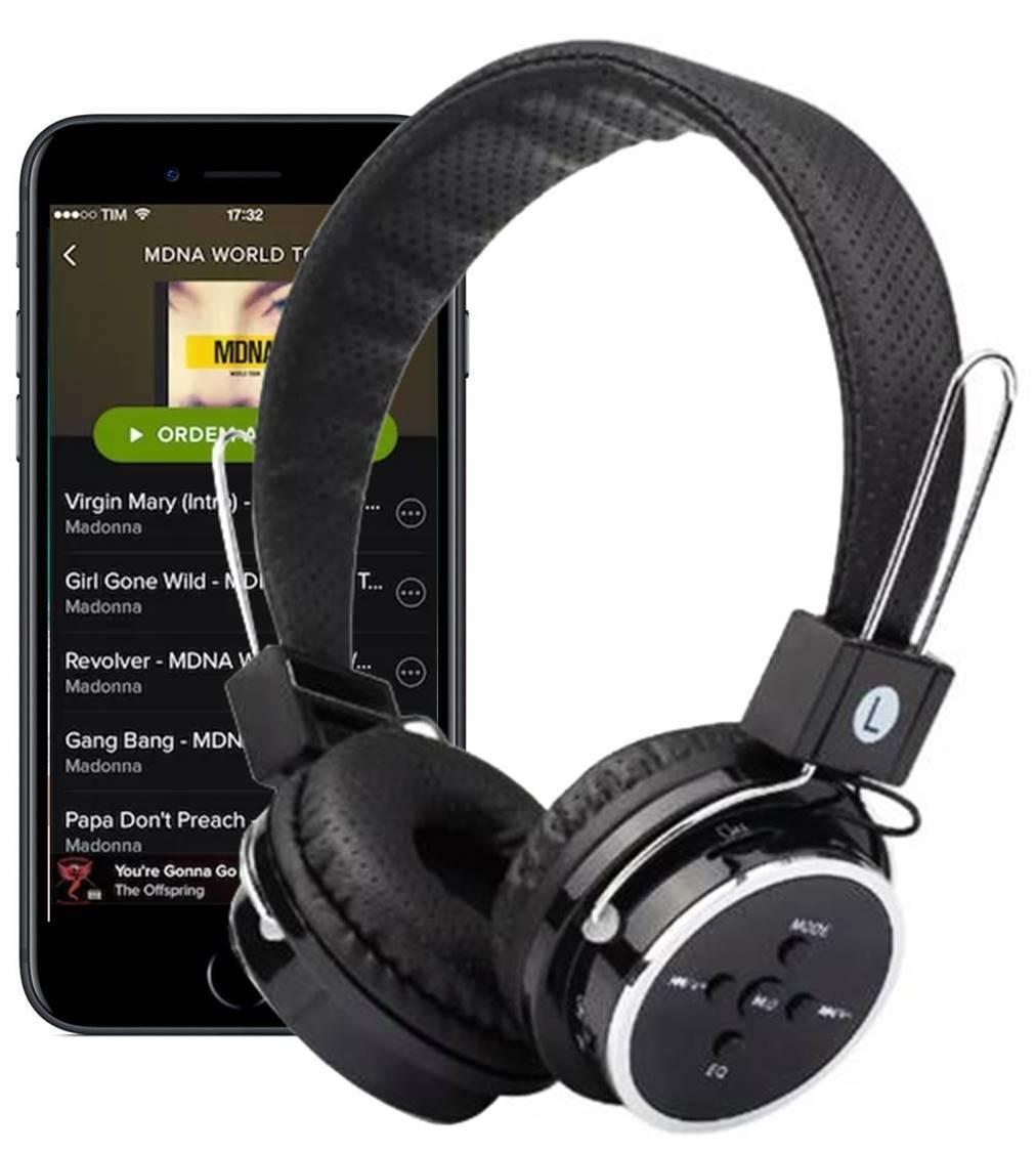 5729c631a fone de ouvido headphone sem fio micro sd usb fm bluetooth. Carregando zoom.