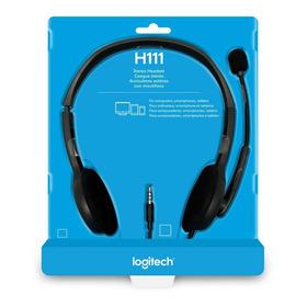 Fone De Ouvido Headset 3.5mm Logitech H111 Estéreo Analógico
