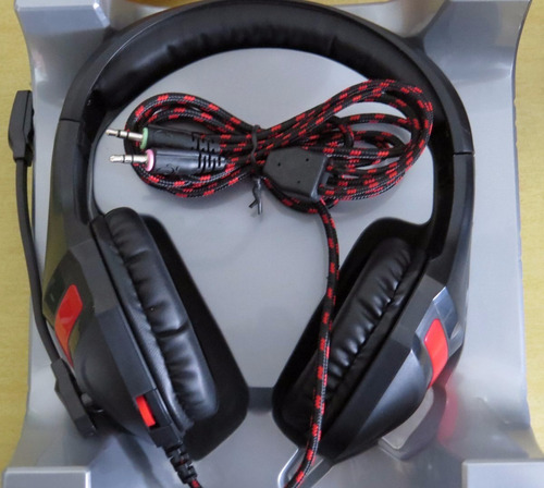 fone de ouvido headset gamer red super bass multilaser ph101