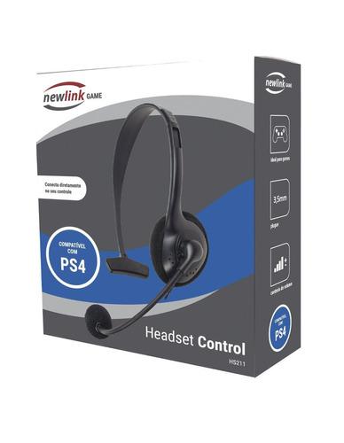 fone de ouvido headset oex para ps4 game control preto hs211