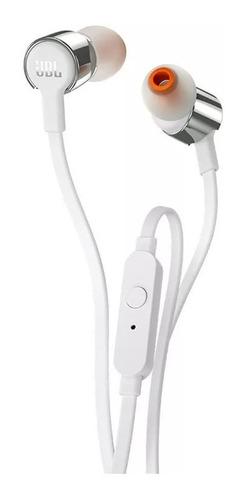 fone de ouvido intra auricular jbl t210 branco c microfone
