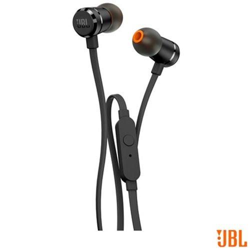 fone de ouvido jbl in ear intra-auricular preto - jblt290blk