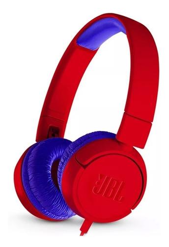 fone de ouvido jbl jr300 kids vermelho original