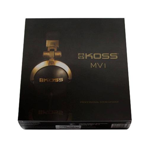 fone de ouvido koss mv1 profissional estúdio original