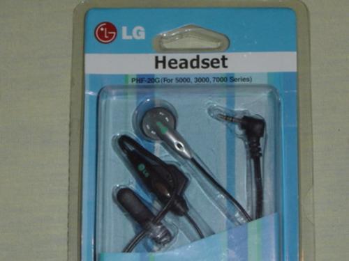 fone de ouvido lg series 3000 5000 7000 importado s/uso rj