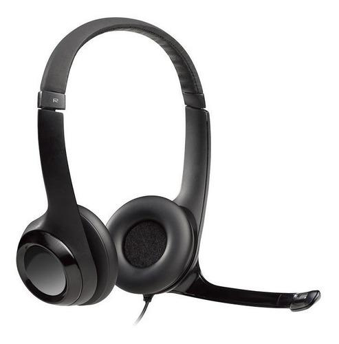 fone de ouvido logitech h390 preto