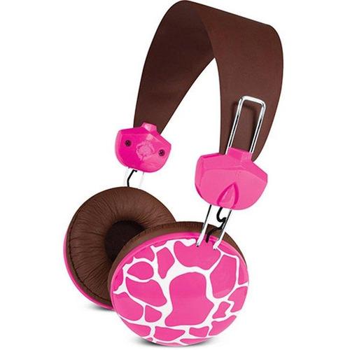 fone de ouvido macbeth pink giraffe - mb-hl2kg