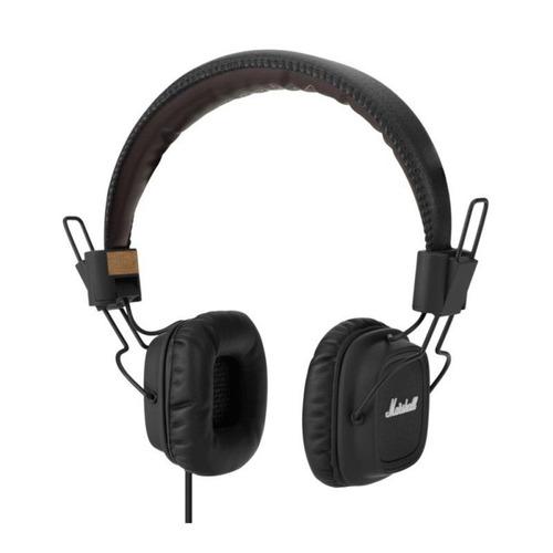 fone de ouvido major fx preto com microfone -marshall