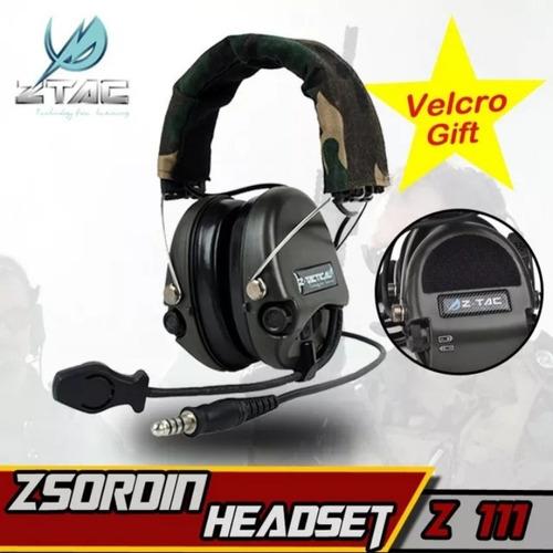 fone de ouvido militar ou tiro esportivo z - tac