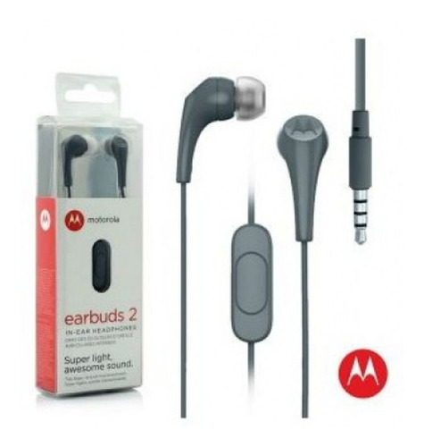 fone de ouvido motorola earbuds 2 sh006 slate