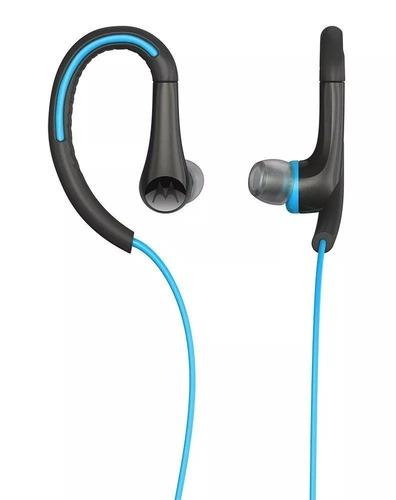 fone de ouvido motorola earbuds sports azul