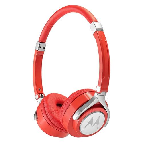 fone de ouvido motorola pulse 2 com microfone vermelho
